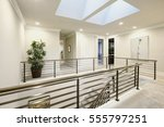 second floor landing features... | Shutterstock . vector #555797251