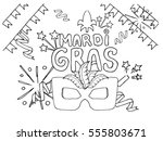 coloring page celebrate... | Shutterstock .eps vector #555803671