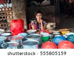 myanmar february 20 2016 ... | Shutterstock . vector #555805159