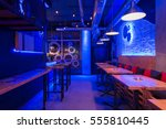 interior of a night club with... | Shutterstock . vector #555810445