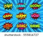 comic book speech bubbles  cool ... | Shutterstock .eps vector #555816727