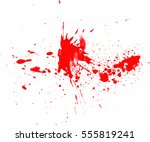 blood drops and splatters on... | Shutterstock .eps vector #555819241