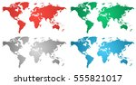 set of world gradient maps from ... | Shutterstock .eps vector #555821017
