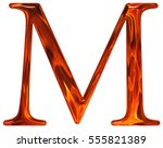 uppercase letter m   the... | Shutterstock . vector #555821389