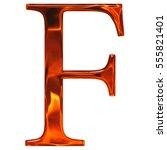 uppercase letter f   the... | Shutterstock . vector #555821401