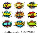 comic book speech bubbles  cool ... | Shutterstock .eps vector #555821887