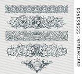 decorative vintage ornament... | Shutterstock .eps vector #555831901