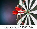 Dart Board Targeting The Center