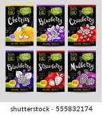 set of colorful labels in... | Shutterstock .eps vector #555832174