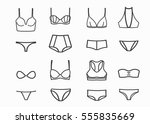 women underwear  set. different ... | Shutterstock .eps vector #555835669