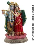 Small photo of Krishna and Radha. Indian statue