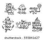 black inspirational quote... | Shutterstock .eps vector #555841627