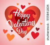 valentine day gift card holiday ... | Shutterstock .eps vector #555841834