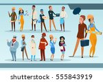 people group different... | Shutterstock .eps vector #555843919