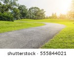 the way in the park with tree... | Shutterstock . vector #555844021