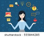 flat design vector illustration ...   Shutterstock .eps vector #555844285