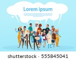 people group different... | Shutterstock .eps vector #555845041
