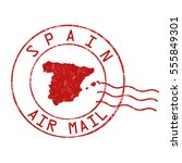 spain post office  air mail ... | Shutterstock .eps vector #555849301