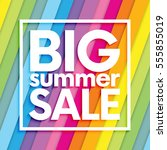 summer sale on colorful striped ...   Shutterstock .eps vector #555855019