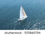 sailboat on ocean | Shutterstock . vector #555860704