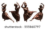 indian dancer woman 3d... | Shutterstock . vector #555860797