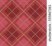 knitted seamless pattern argyle   Shutterstock .eps vector #555867361