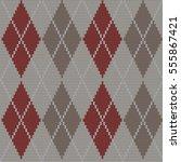 knitted seamless pattern argyle   Shutterstock .eps vector #555867421