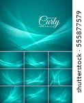 curly  abstract background... | Shutterstock .eps vector #555877579