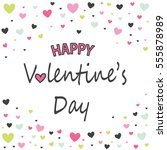 happy valetines day card | Shutterstock .eps vector #555878989