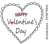 happy valentines day card | Shutterstock .eps vector #555879841