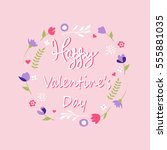 happy valentine's day card | Shutterstock .eps vector #555881035