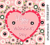 valentines day card | Shutterstock .eps vector #555881899