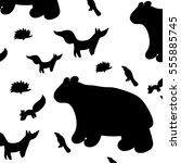 wild animals. animals.   Shutterstock .eps vector #555885745