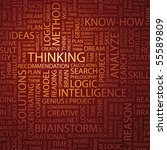 thinking. word collage.... | Shutterstock .eps vector #55589809