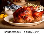 roasted turkey | Shutterstock . vector #555898144