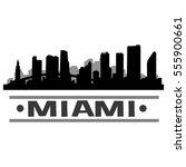miami skyline silhouette | Shutterstock .eps vector #555900661