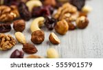 trail mix   variation of fruits ... | Shutterstock . vector #555901579