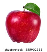 apple isolated on white... | Shutterstock . vector #555902335