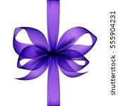 vector purple transparent bow... | Shutterstock .eps vector #555904231