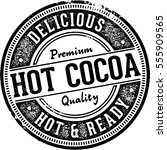 vintage style hot cocoa... | Shutterstock .eps vector #555909565