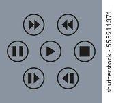 media player control button | Shutterstock .eps vector #555911371