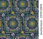 handdrawn ethnic ornamental... | Shutterstock .eps vector #555913849