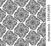 handdrawn ethnic ornamental... | Shutterstock .eps vector #555913855