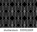 Seamless geometric pattern. Vector abstract classical background in black and white color | Shutterstock vector #555922009