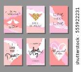 valentine s day creative... | Shutterstock .eps vector #555922231