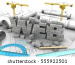 3d illustration of web... | Shutterstock . vector #555922501