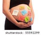 young pregnant caucasian woman... | Shutterstock . vector #55592299