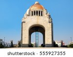 the monumento to the revolution ... | Shutterstock . vector #555927355
