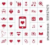 valentine icon set   Shutterstock .eps vector #555927475