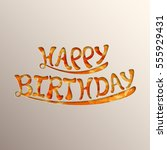 illustration of happy birthday... | Shutterstock .eps vector #555929431